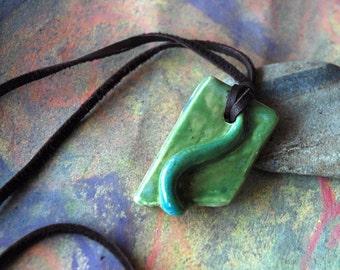 Green blue pendant