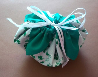 Shamrock Petal Gift Bag with satin ribbon