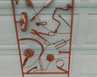 metal garden art trellis