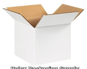 5x5x5 White Cardboard Shipping Cartons Corrugated Boxes Moving Packing