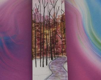 River - Bookmark - Illustration - Pen and Ink