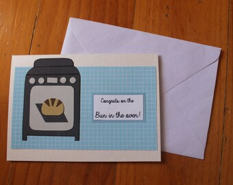 Congrats on The Bun In The Oven Card!