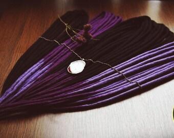 "Set of wool dreadlocks ""City at night in purple light"""