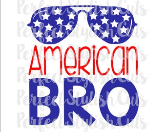 American Bro Boy SVG, DXF, EPS, png Files for Cutting Machines Cameo or Cricut - 4th of July svg, America Svg, Patriotic Svg, Bro Svg