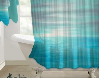 Aqua shower curtain | Etsy