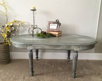 Chic and Shabby Gray Coffee Table / Kids table
