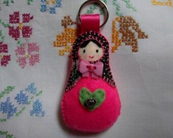 Babushka, Babushka Keyring, Babushka Bag Charm, Russian Doll