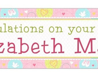 christening or baptism banner
