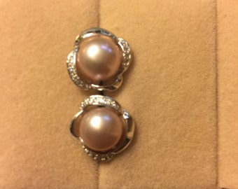 925 Freshwater Pearl Stud Earrings