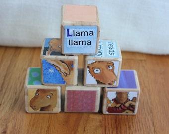 6 Llama Llama Red Pajama Wooden Blocks