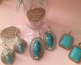 lot of jewelry jar of jewelry boho earrings gypsy jewelry gypsy earrings boho jewelry lot jar of jewelry gypsy earrings turq earrings