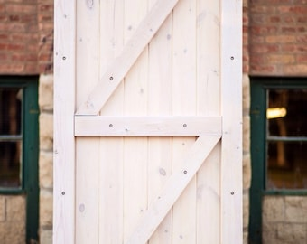 Rustic antique barn door