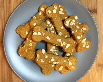 Homemade Natural Dog Treats - Peanut Butter Oat Cookies - Pupcake Bakery: Homemade With Love, Not Preservatives