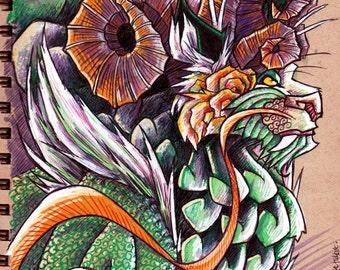 Green Guardian - Original Drawing