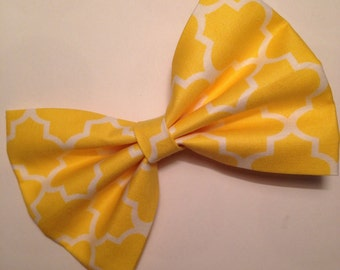 Yellow Fabric Hairbow
