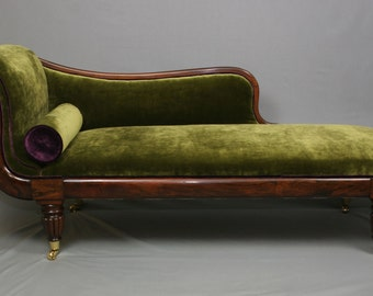 Regency Period Brazilian Rosewood Chaise Lounge