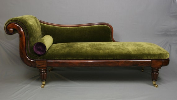 Items similar to regency period brazilian rosewood chaise for Antique chaise for sale