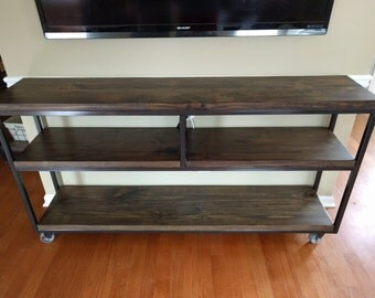 Industrial Console Table With Caster Wheels Part 59