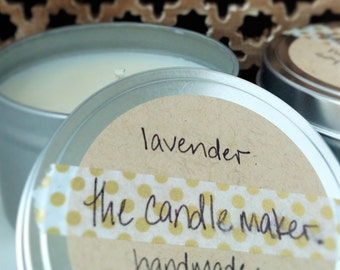 soy scented candles: lavender