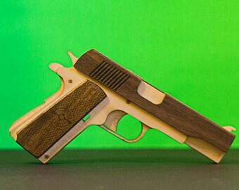 1911 Pull back rubber band gun kit