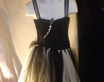 Party Dress Black and white tutu dress size 4
