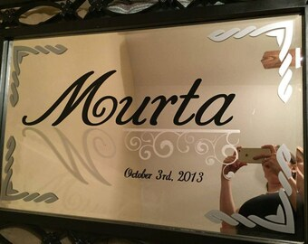 Family Name Etched/Vinyl Mirror