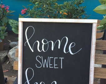 Home Sweet Home Sign, Rustic Wood Sign, Home Sweet Home Rustic Sign, Black and White Home Sign