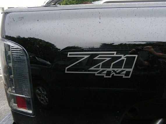 Z71 4x4 Truck Bed Decals Set Your Choice Of Color Fits