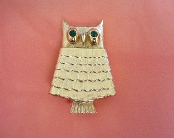 Vintage AVON Owl with Glace Perfume Pin