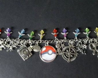 Pokemon go pokeball inspired charm bracelet