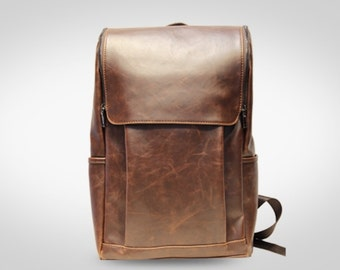 Leather backpack. Handmade leather backpack, Men and women leather bag