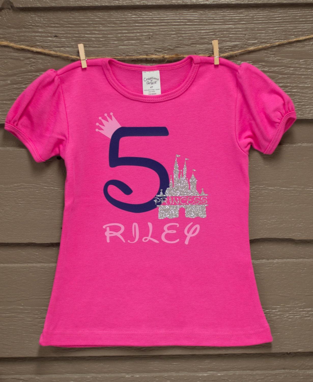 Disney Princess Birthday Shirt By LoveLaughCraftCo On Etsy
