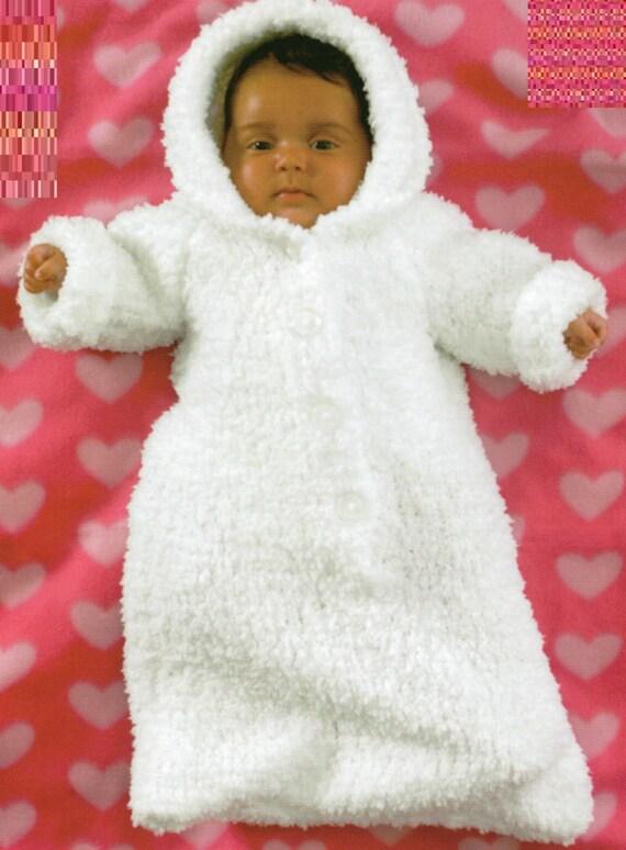 PDF Knitting Pattern Babys Chunky Knit Sleeping