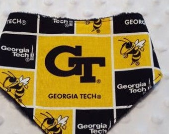 Georgia Tech Bandanna Bib With Minky Backing