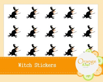 Witch Stickers - Halloween Party Favor Stickers - Halloween Stickers