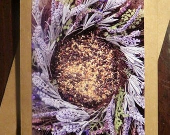 Birdseed Wreath.  Photo Greeting/Note Card. Blank Inside.
