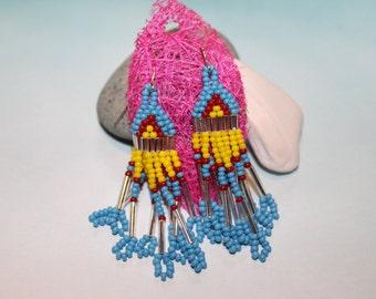 Traditional Native American beaded earrings