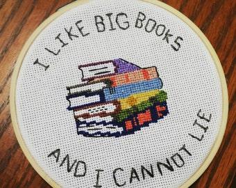 I Like Big Books Cross Stitch
