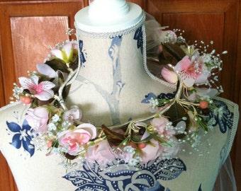 Beautiful Flower Crown Veil