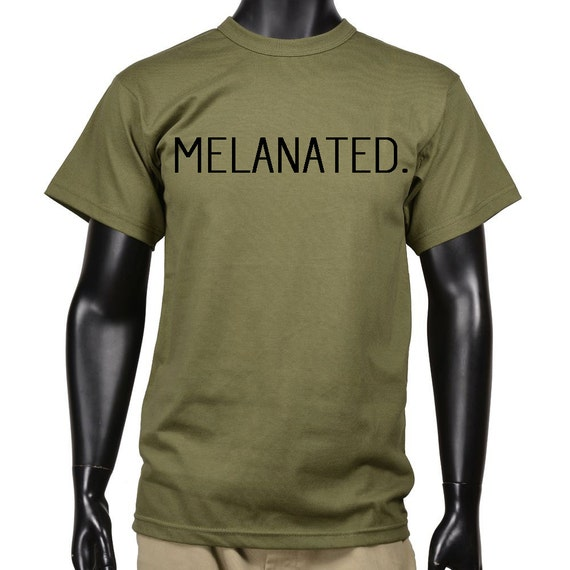 Melanated Tee Olive Green Black By Ryhb Clothing Melanated