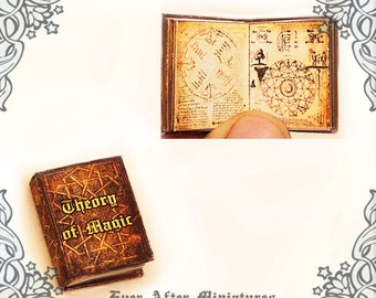 THEORY of MAGIC Dollhouse Miniature Book – 1:12 Openable Theory of Magic Book - Magic Miniature Book Halloween Miniatures Printable DOWNLOAD