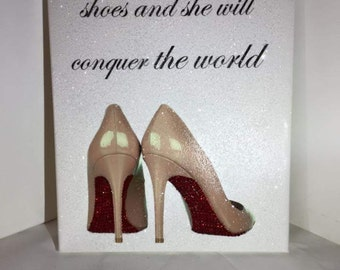 Diamond effect and Swarovski Crystal Elements Shoe Canvas
