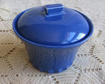 Vintage Cobalt Lidded Jar