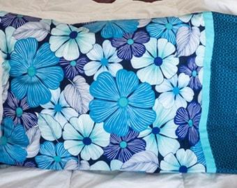 Blue Tropical Pillow Case Set