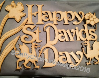 Happy St David's day sign