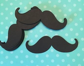 Black Mustache Die Cuts 3 Inches