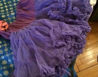 Vintage purple tutu underskirt petticoat