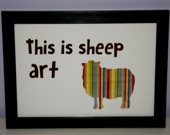 This is sheep art