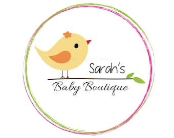 Baby Boutique Logo - Baby Boutique - Premade Baby boutique logo - Bird logo - unique Logo Design - One of a kind logo