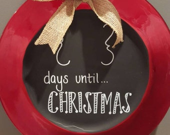 """Days until Christmas Countdown Plate 13"""""""